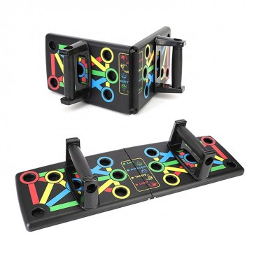 Folding Push Up Board Fitness Workout Train Muscle Exercise