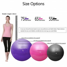Yoga ball for exercise with pump